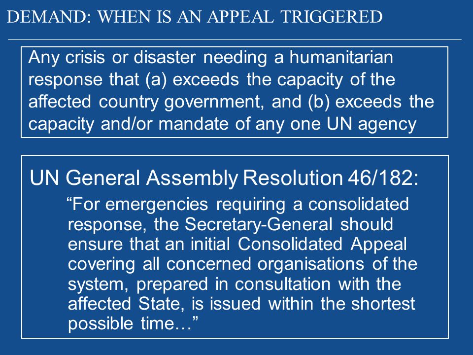 UN General Assembly Resolution 46/182: