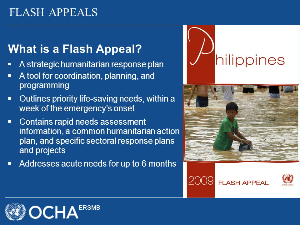 FLASH APPEALS What is a Flash Appeal