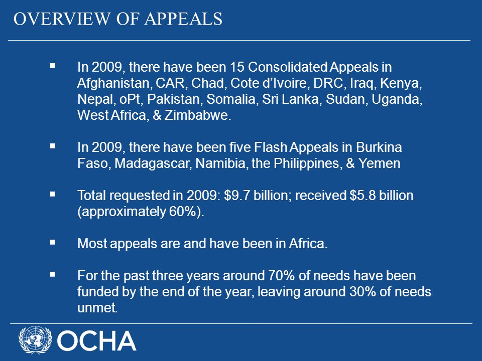 OVERVIEW OF APPEALS