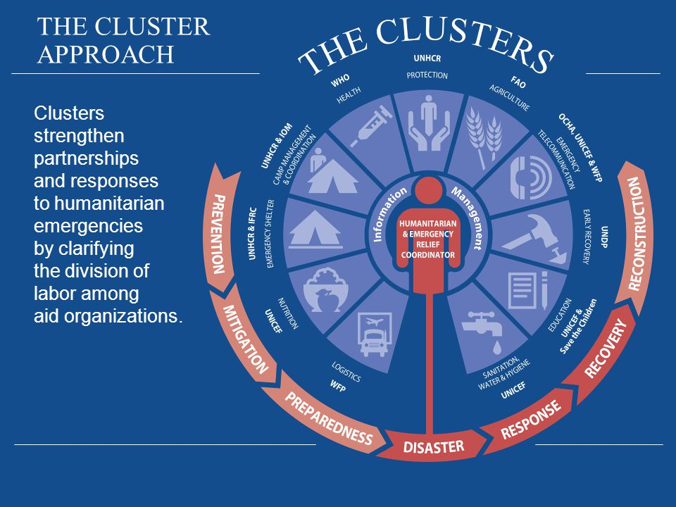 THE CLUSTER APPROACH.