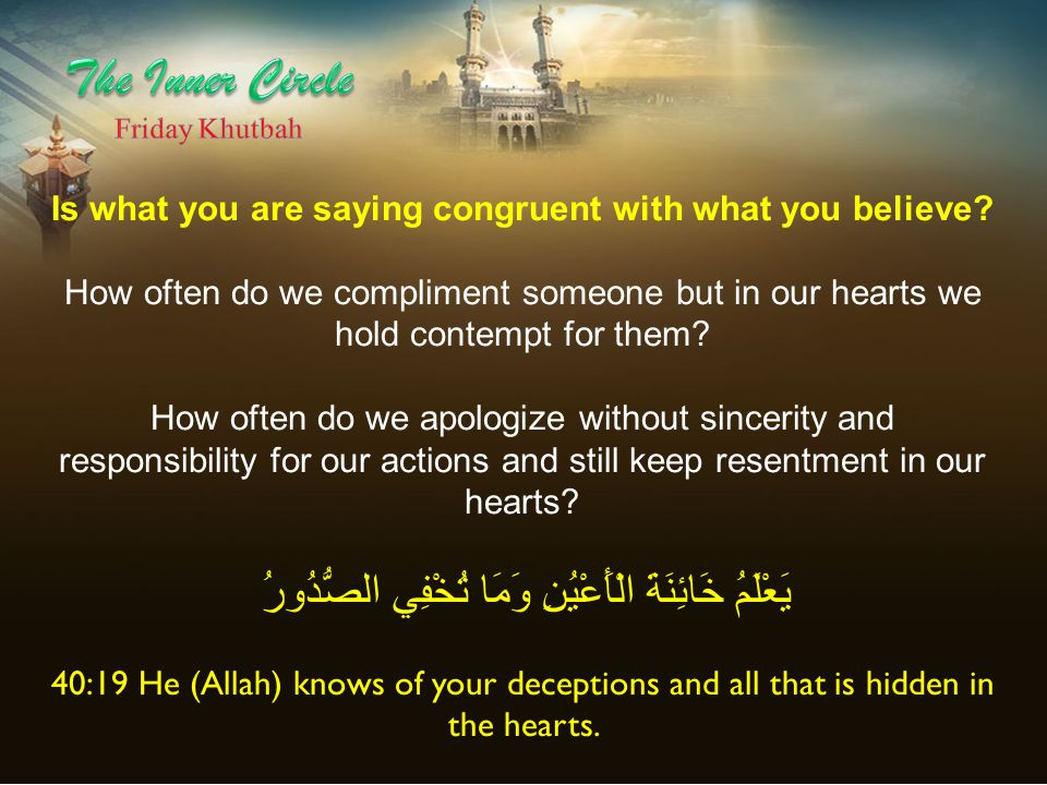 Is what you are saying congruent with what you believe