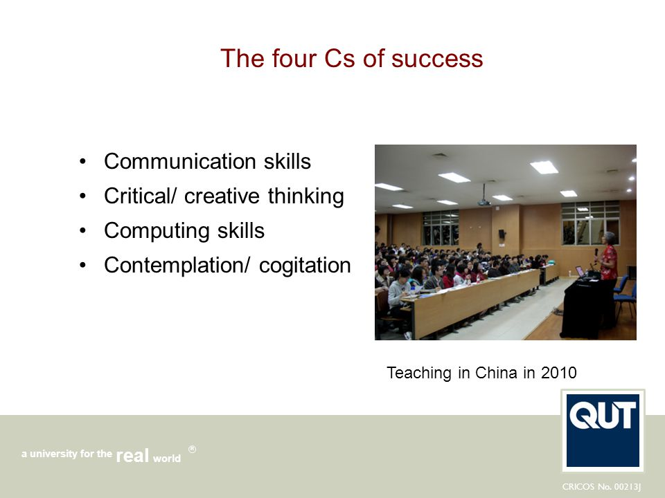 The four Cs of success Communication skills