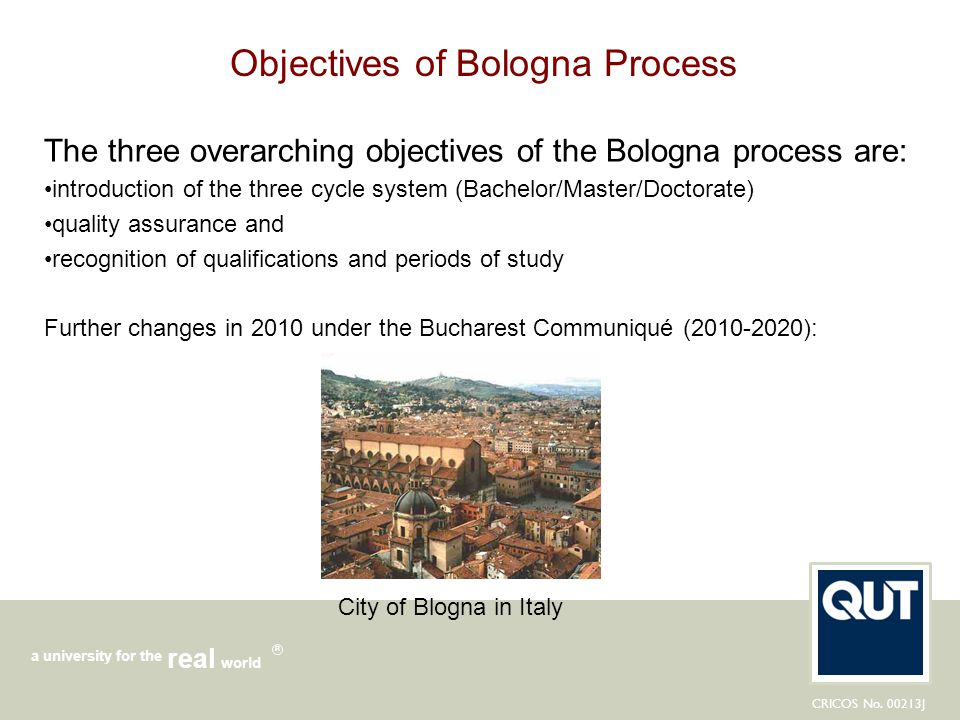 Objectives of Bologna Process