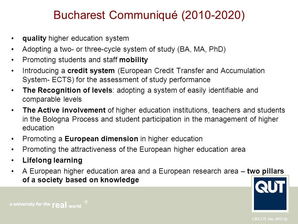 Bucharest Communiqué (2010-2020)