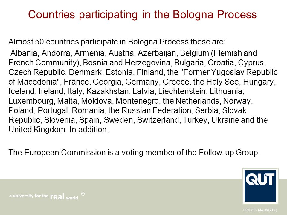 Countries participating in the Bologna Process