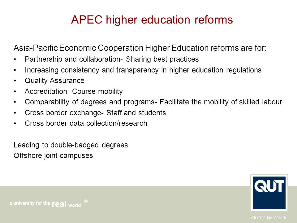 APEC higher education reforms