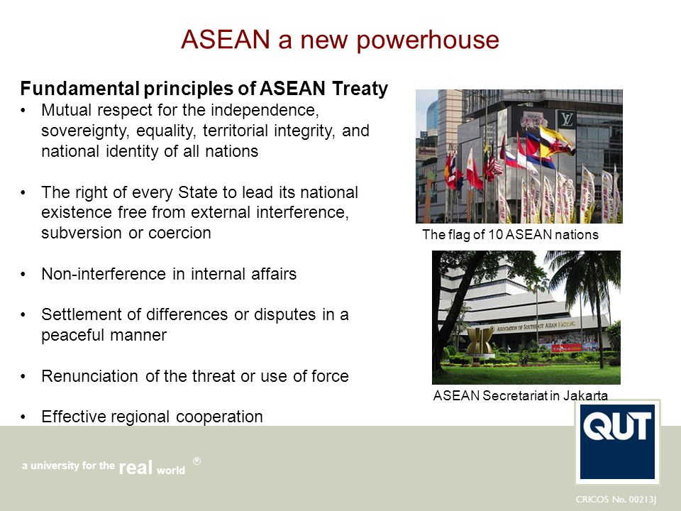 ASEAN a new powerhouse Fundamental principles of ASEAN Treaty