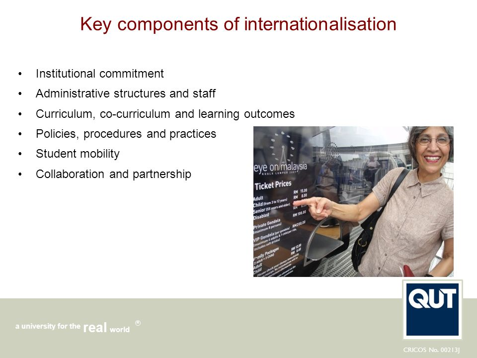 Key components of internationalisation