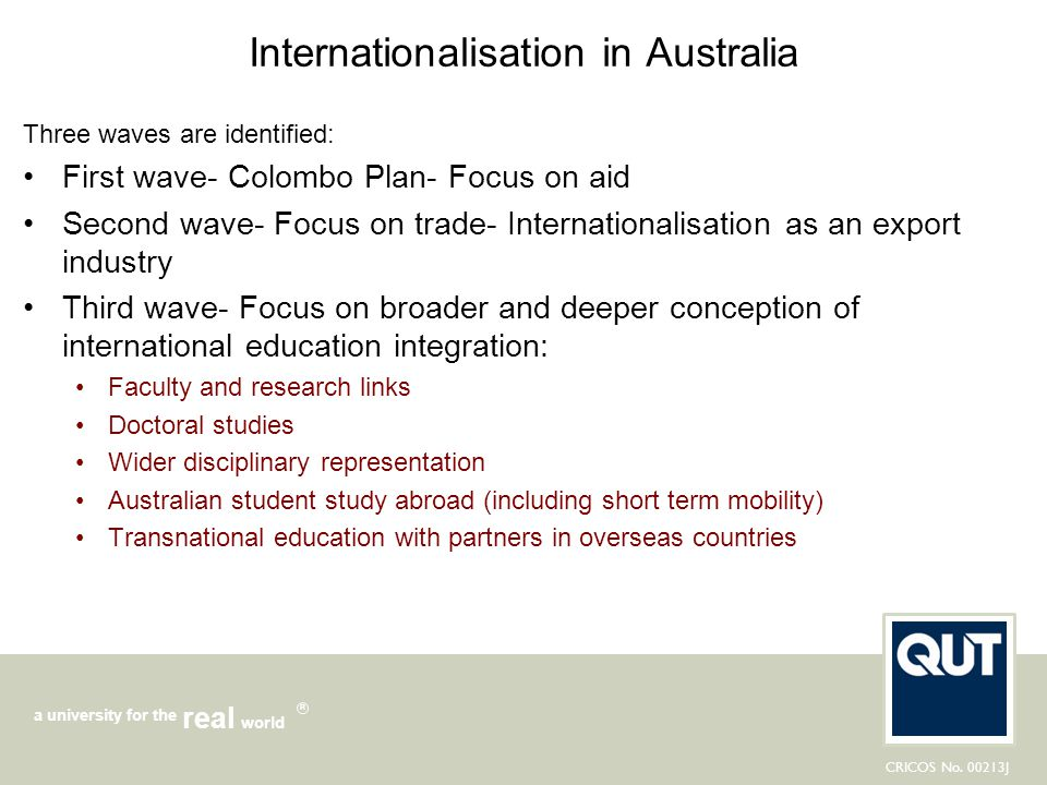 Internationalisation in Australia