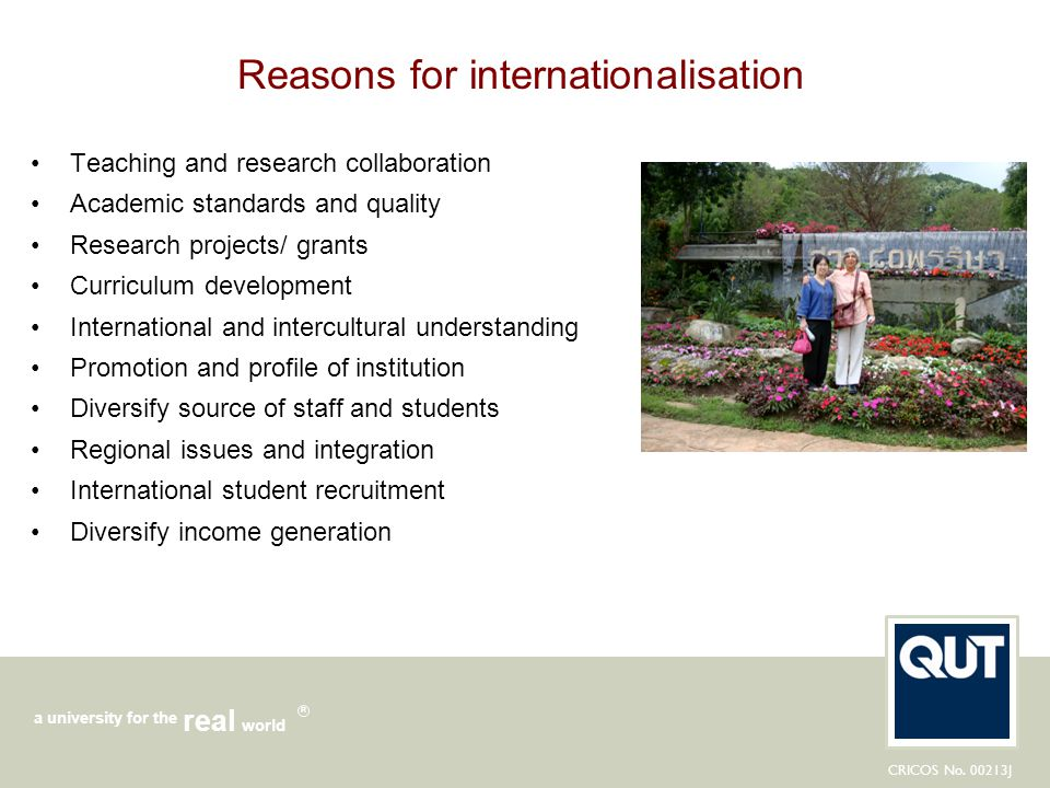 Reasons for internationalisation