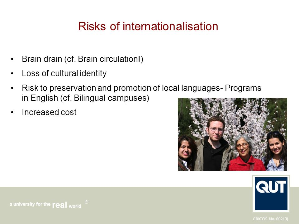 Risks of internationalisation