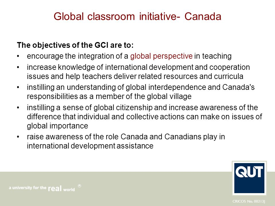 Global classroom initiative- Canada