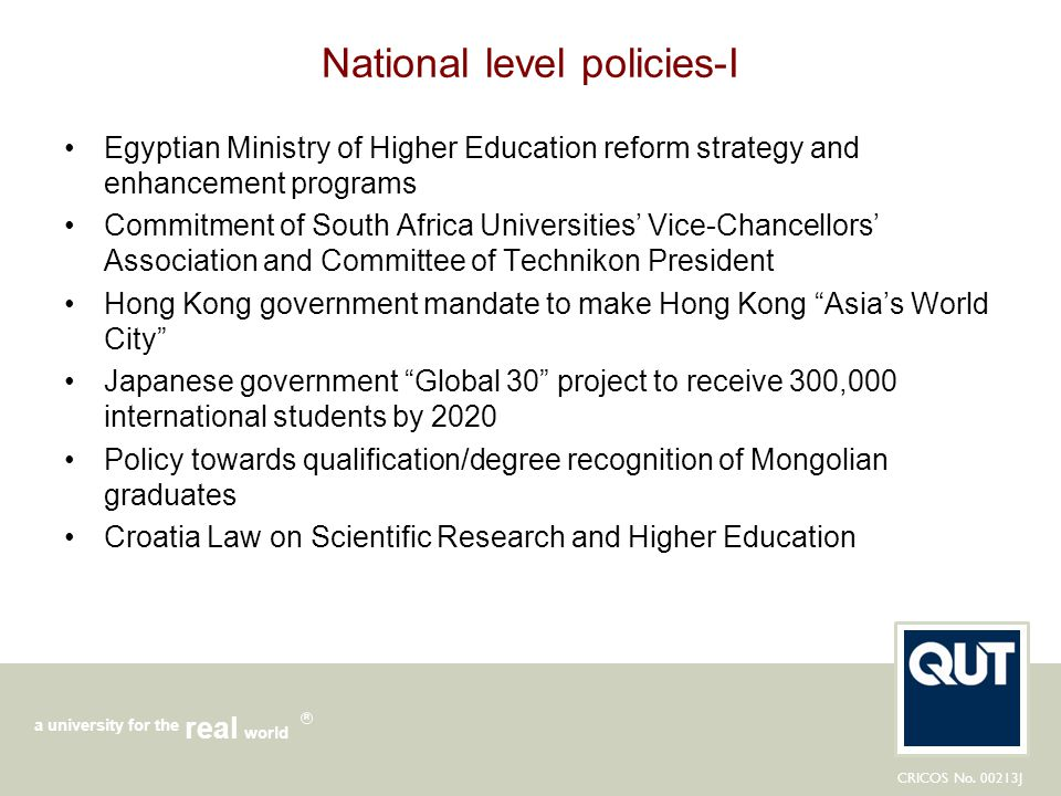 National level policies-I