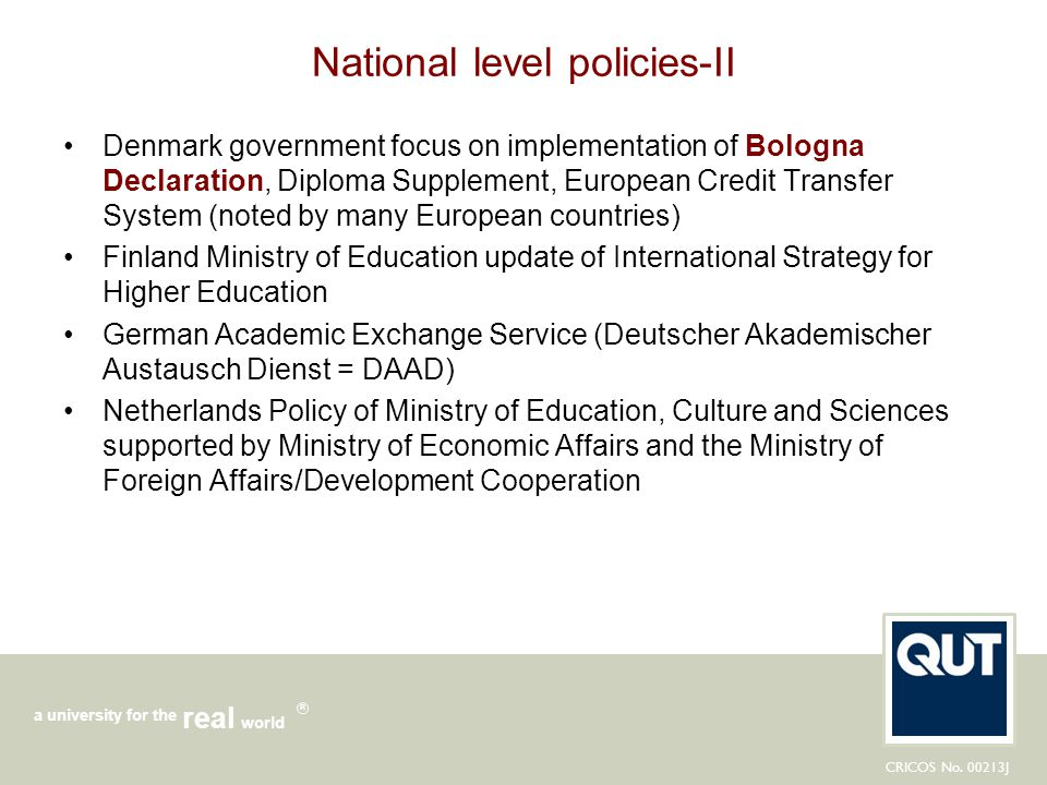 National level policies-II