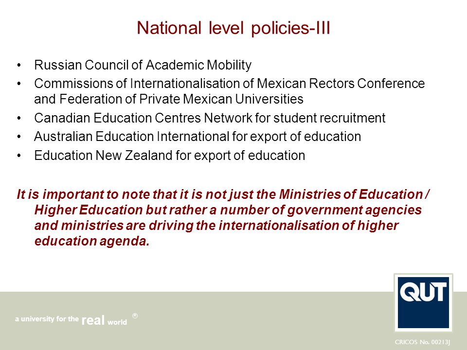 National level policies-III