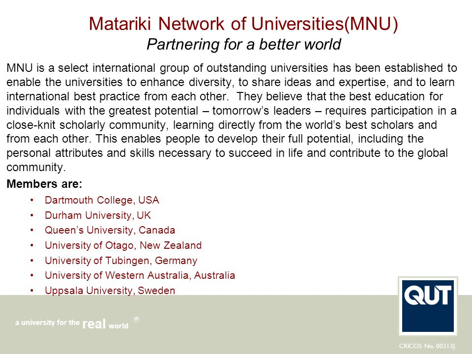 Matariki Network of Universities(MNU) Partnering for a better world