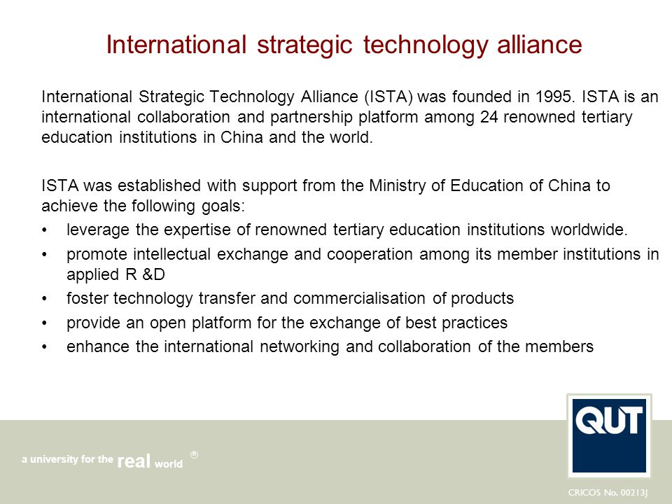 International strategic technology alliance