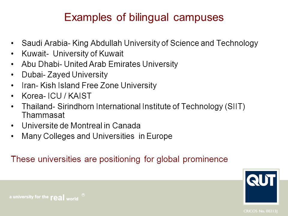 Examples of bilingual campuses