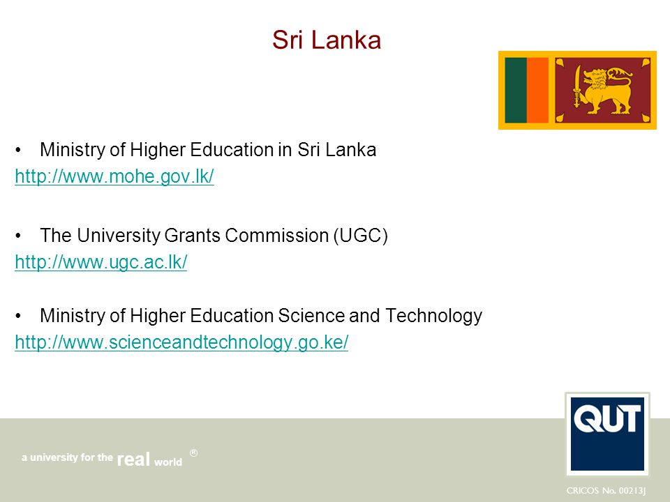 Sri Lanka Ministry of Higher Education in Sri Lanka