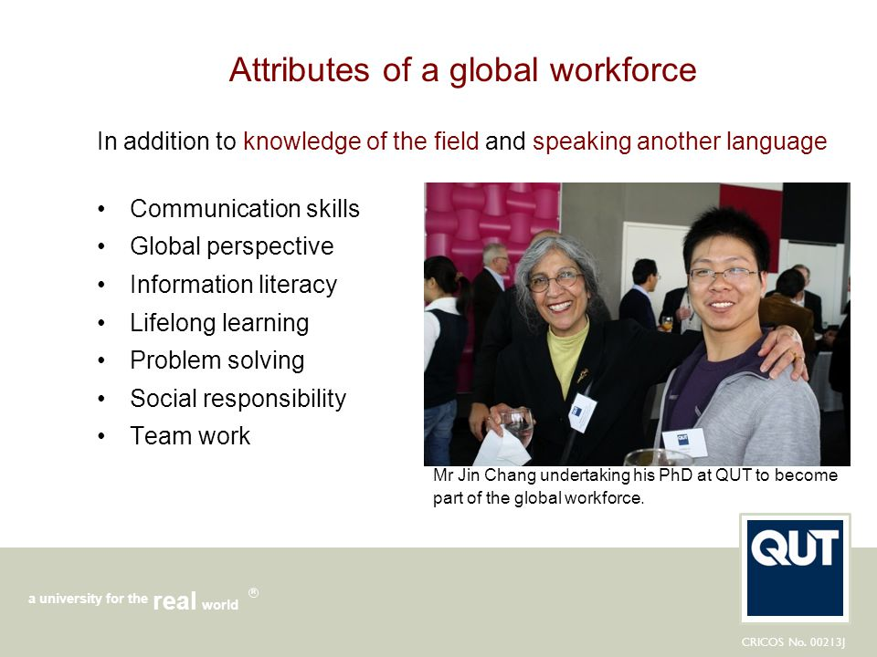 Attributes of a global workforce