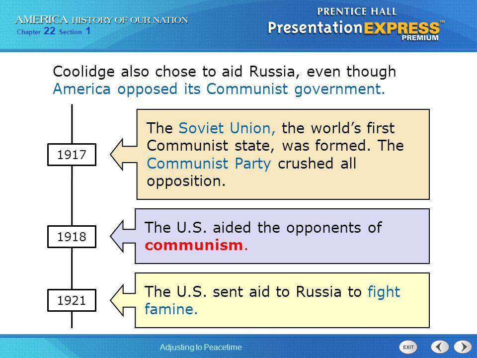 The U.S. aided the opponents of communism.