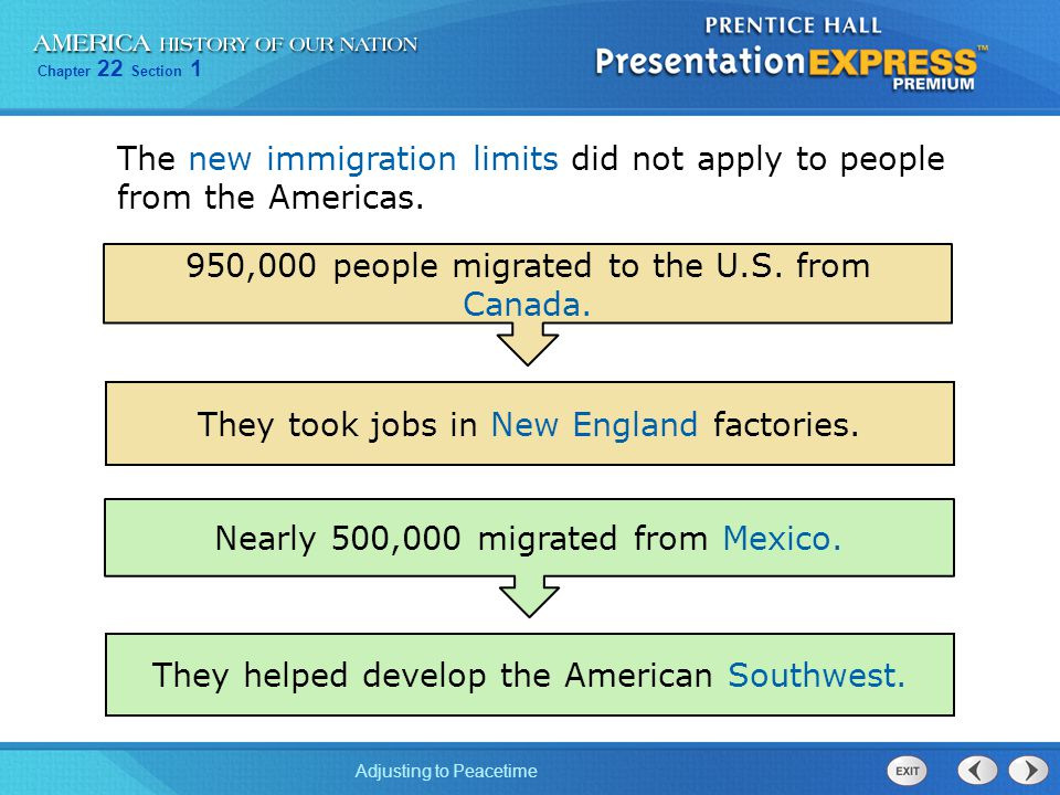 The new immigration limits did not apply to people from the Americas.