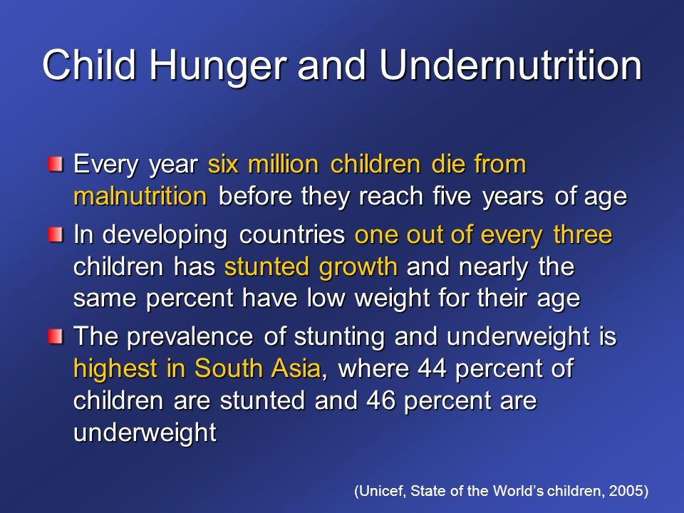 Child Hunger and Undernutrition