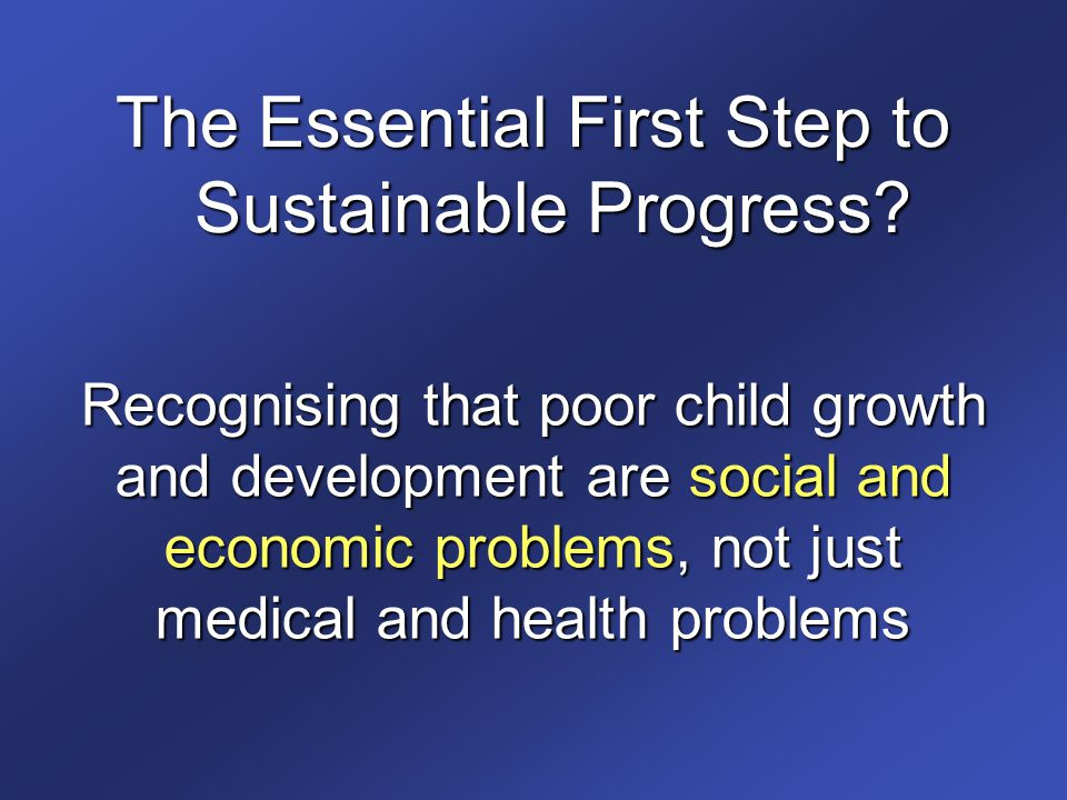The Essential First Step to Sustainable Progress