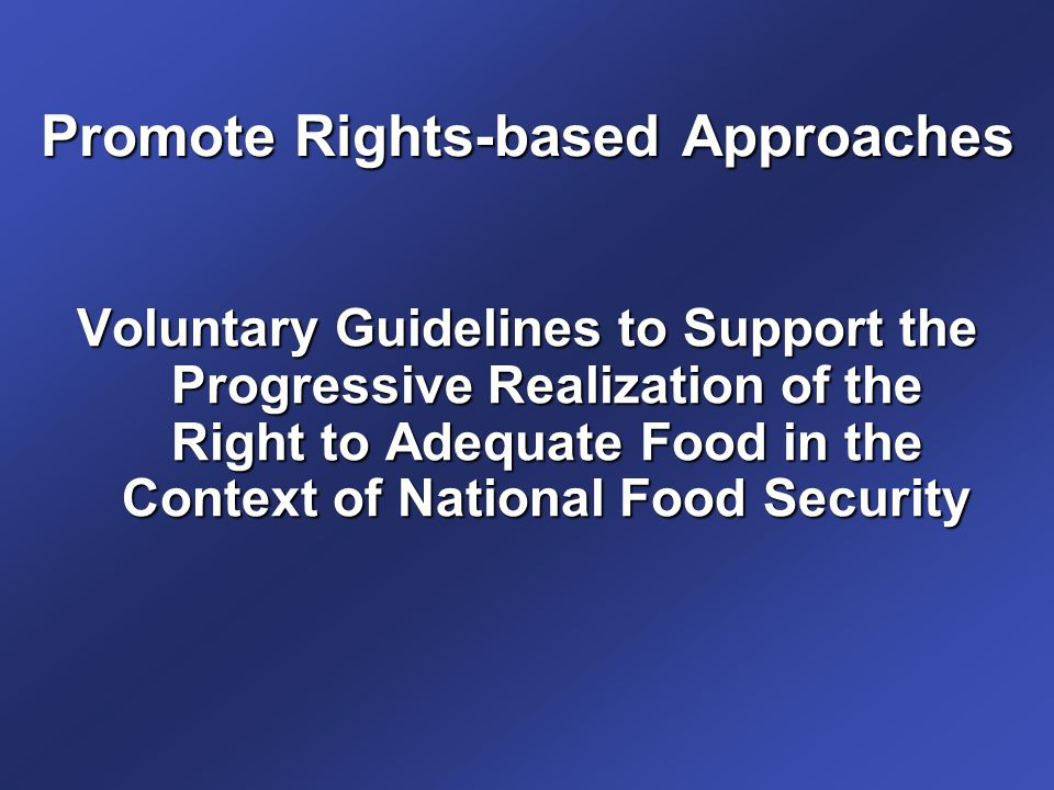 Promote Rights-based Approaches