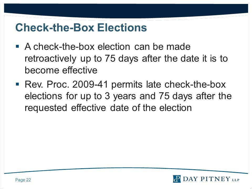 Check-the-Box Elections