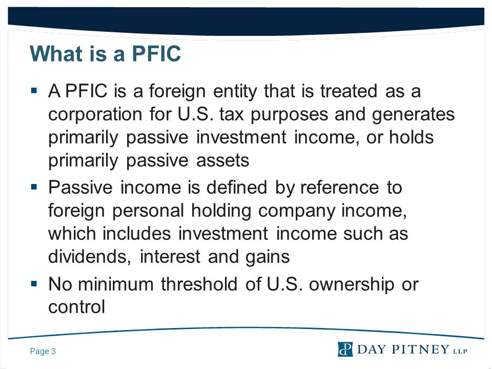 What is a PFIC