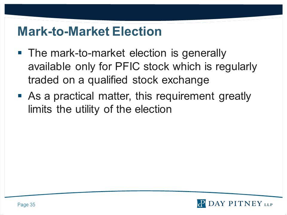 Mark-to-Market Election