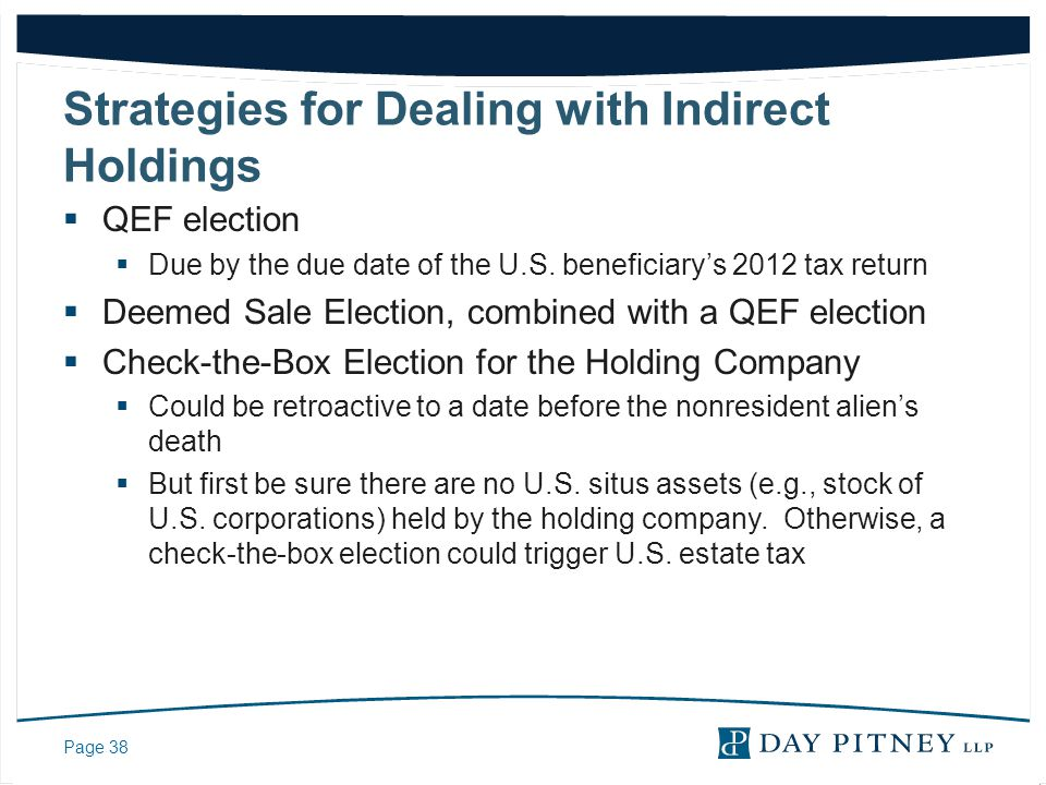 Strategies for Dealing with Indirect Holdings