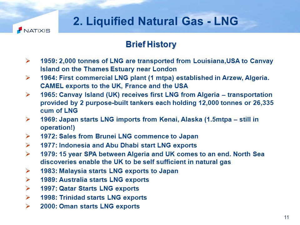 2. Liquified Natural Gas - LNG