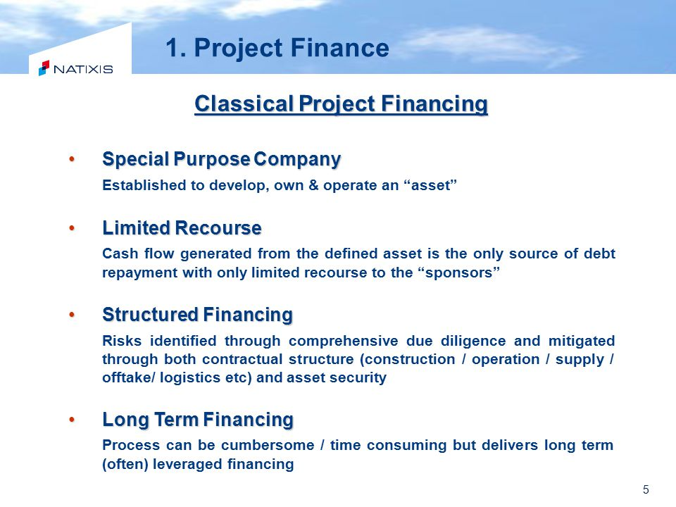 Classical Project Financing