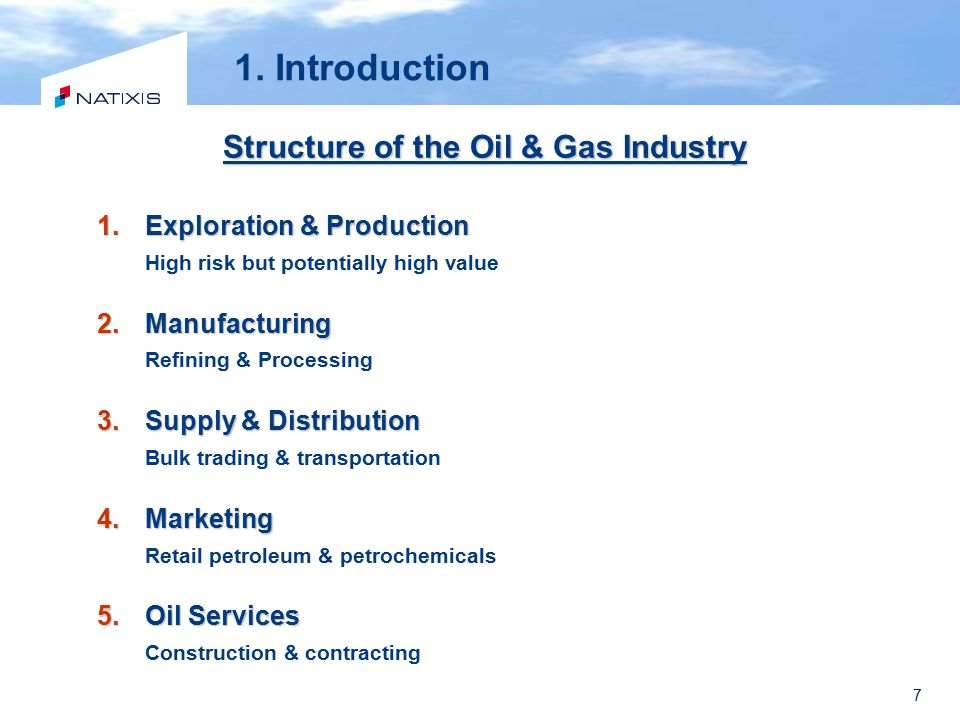 Structure of the Oil & Gas Industry