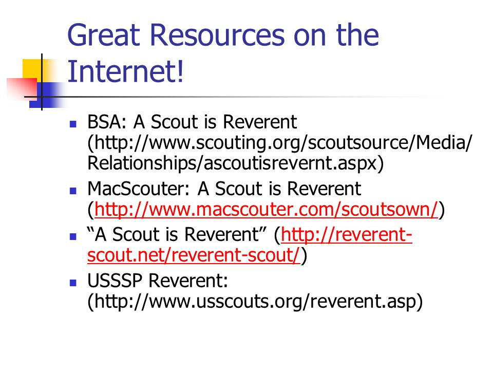 Great Resources on the Internet!