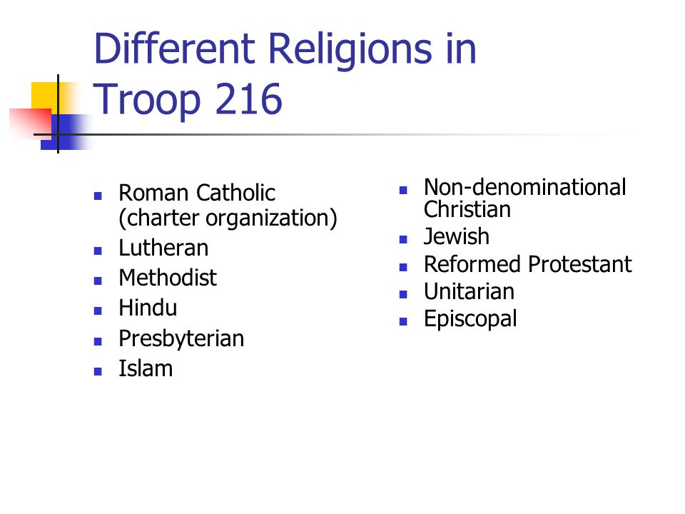Different Religions in Troop 216