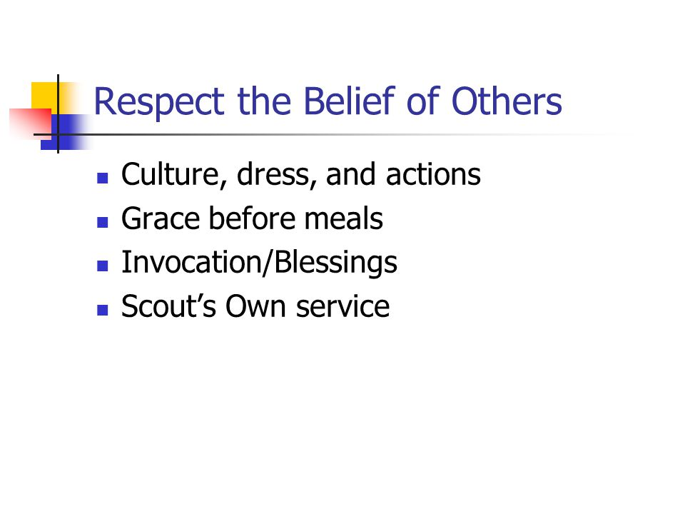 Respect the Belief of Others