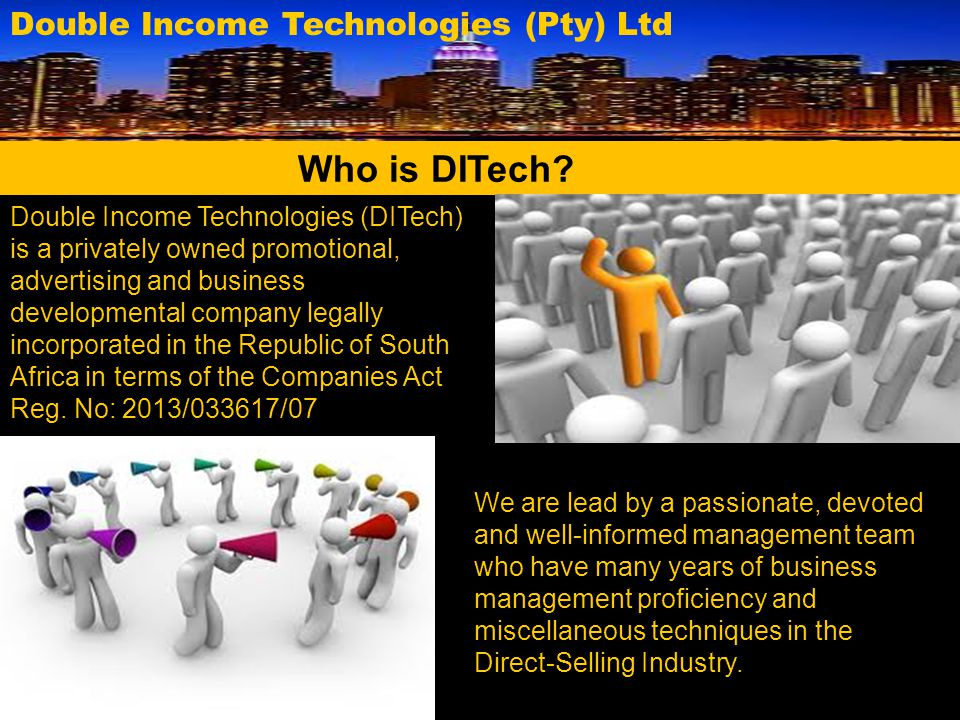 Who is DITech Double Income Technologies (Pty) Ltd