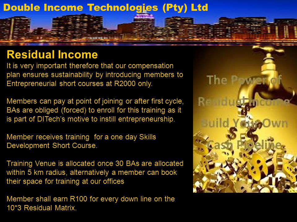 Residual Income Double Income Technologies (Pty) Ltd