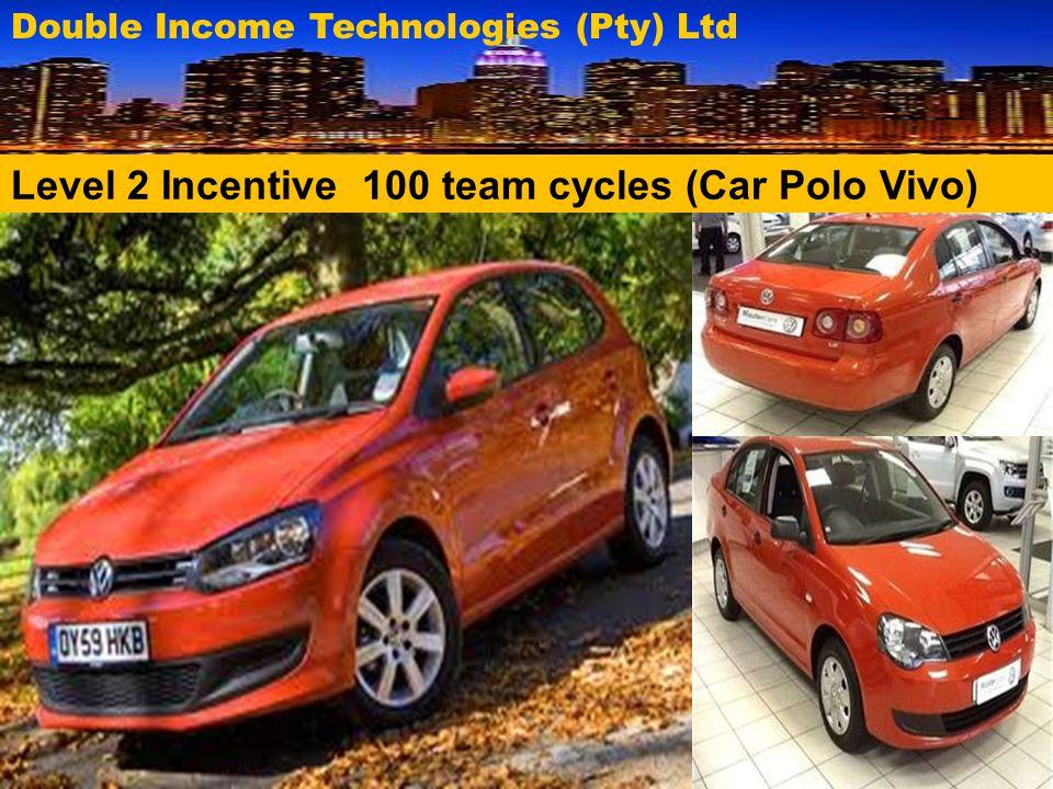 Level 2 Incentive 100 team cycles (Car Polo Vivo)