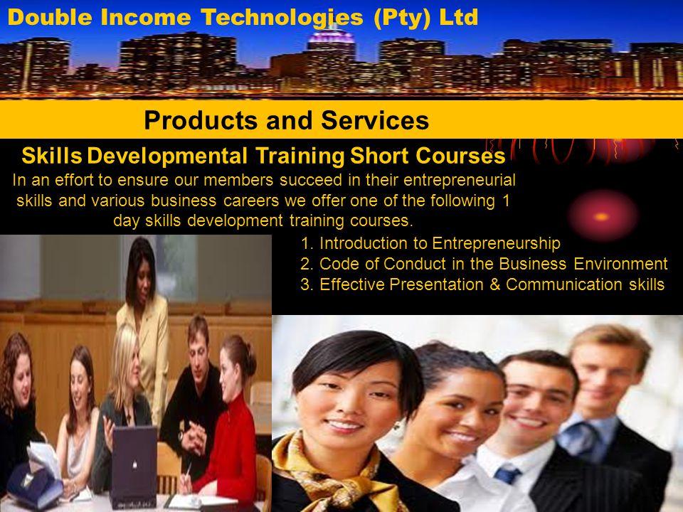 Skills Developmental Training Short Courses
