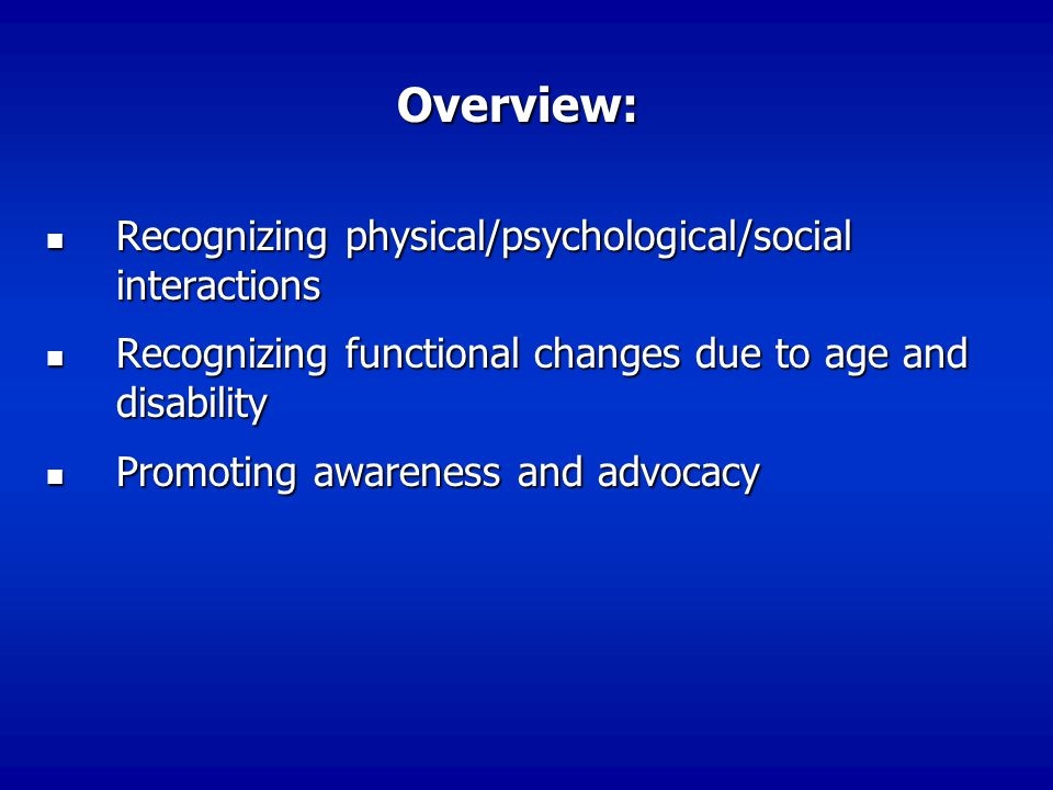 Overview: Recognizing physical/psychological/social interactions