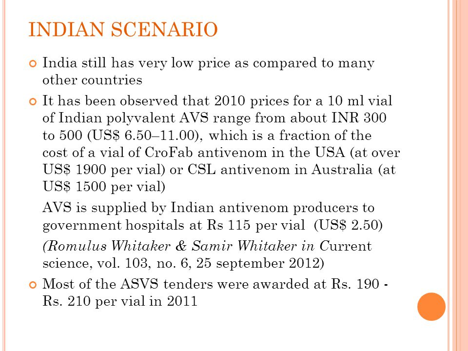 INDIAN SCENARIO India still has very low price as compared to many other countries.