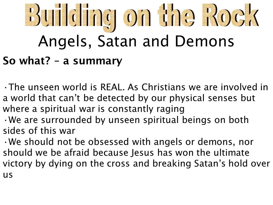 Angels, Satan and Demons