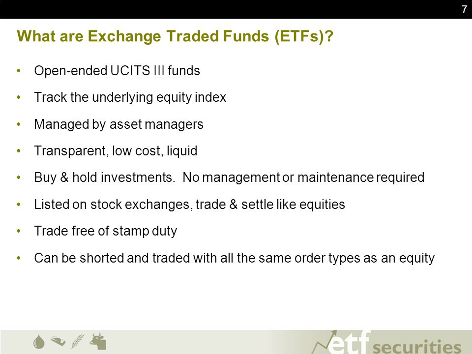 What are Exchange Traded Funds (ETFs)