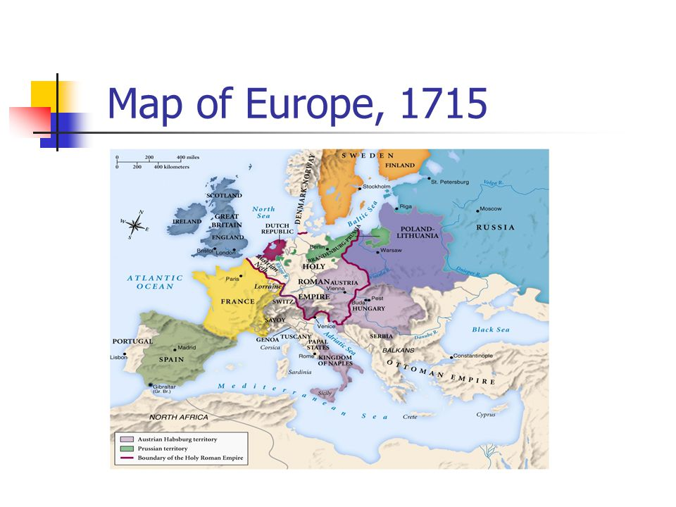 Map of Europe, 1715