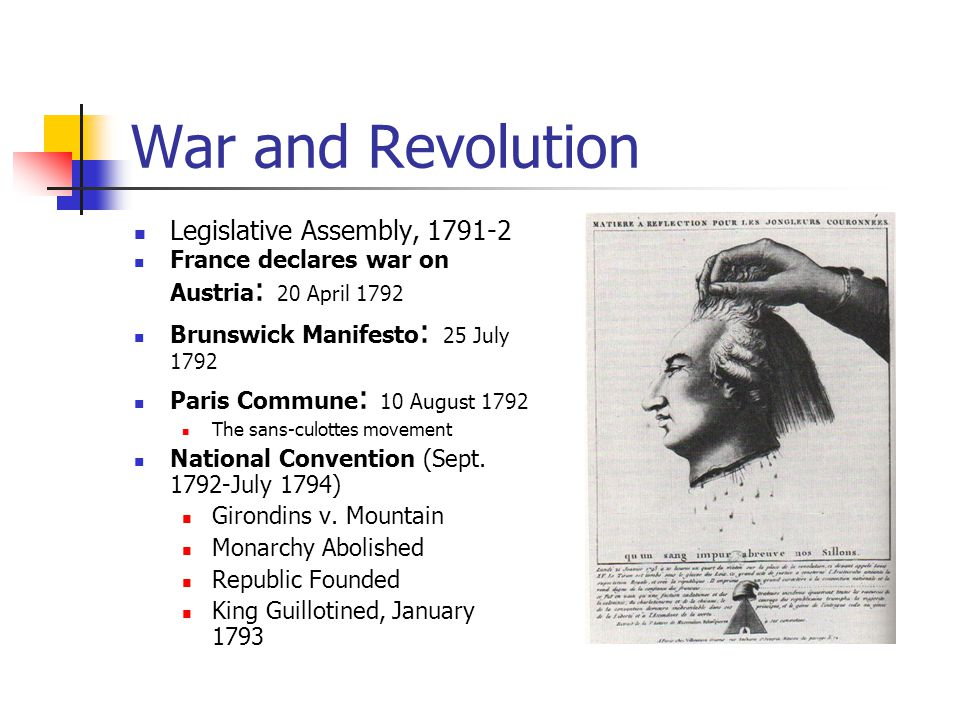 War and Revolution Legislative Assembly, 1791-2