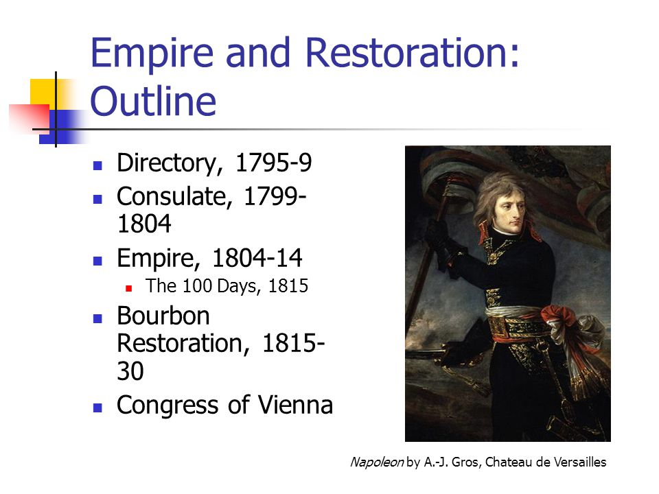 Empire and Restoration: Outline